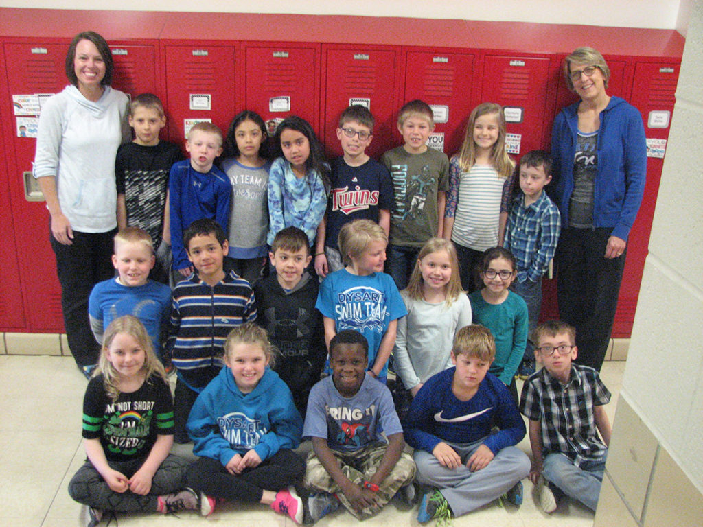 elementary students wearing blue for Jake
