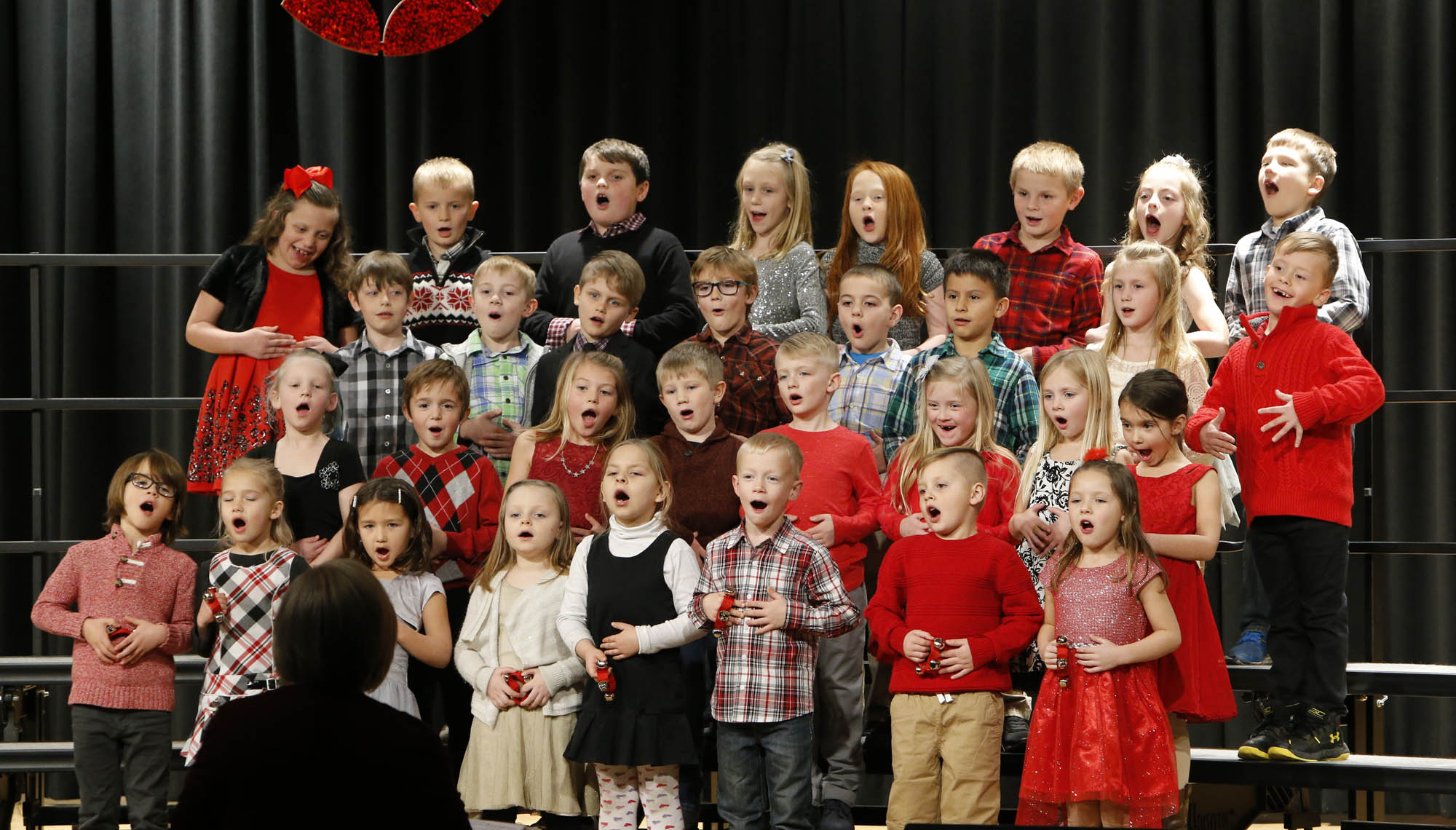 first graders performing on state