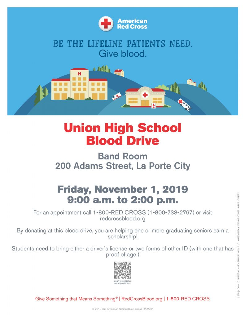NHS Blood Drive Poster