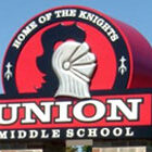 Union Middle School sign